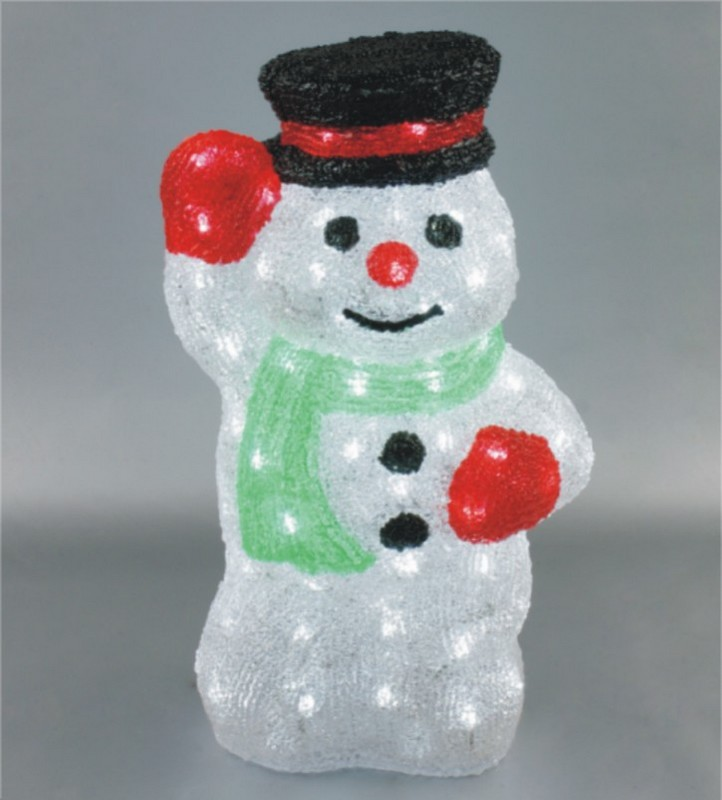 FY-001-D03 christmas acrylic SNOWMAN light bulb lamp FY-001-D03 cheap christmas acrylic SNOWMAN light bulb lamp - Acrylic lights  manufactured in China