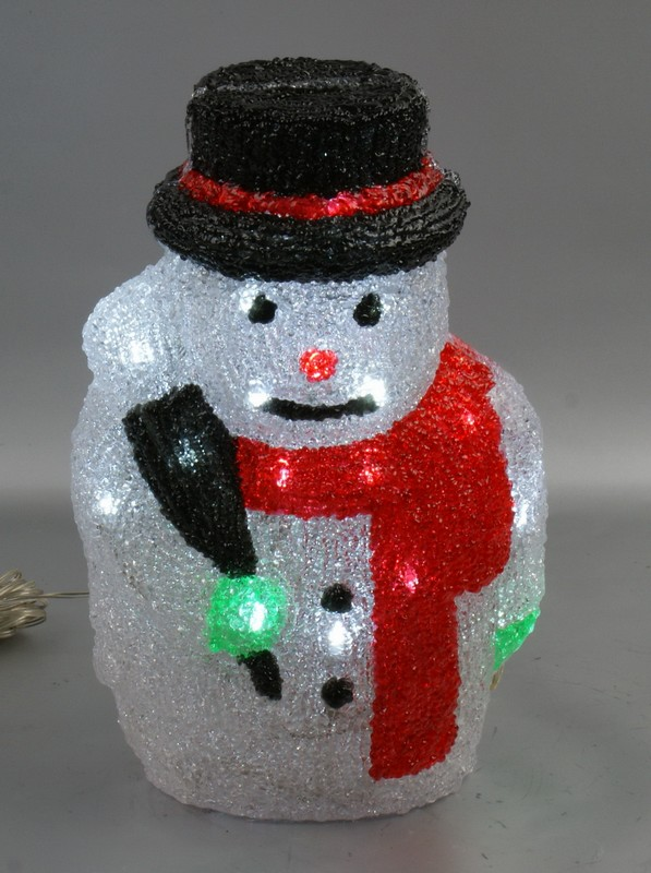 FY-001-D06 28CM christmas acrylic SNOWMAN light bulb lamp FY-001-D06 28CM cheap christmas acrylic SNOWMAN light bulb lamp - Acrylic lights  made in china