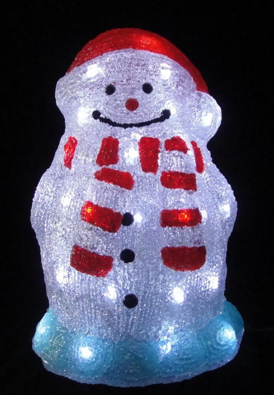 FY-001-D07 christmas acrylic SNOWMAN light bulb lamp FY-001-D07 cheap christmas acrylic SNOWMAN light bulb lamp - Acrylic lights  manufactured in China