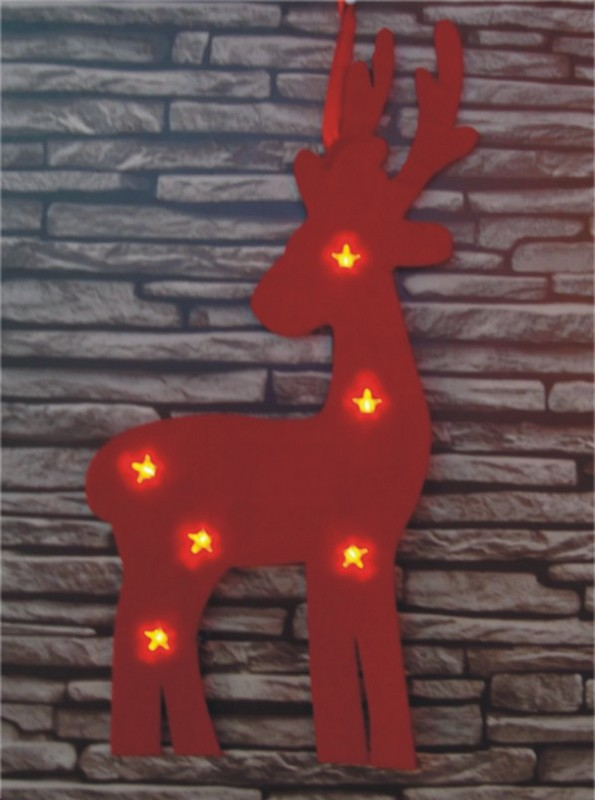 FY-002-B06 christmas REINDEER FY-002-B06 cheap christmas REINDEER FELT carpet light bulb lamp - Carpet light range manufacturer In China