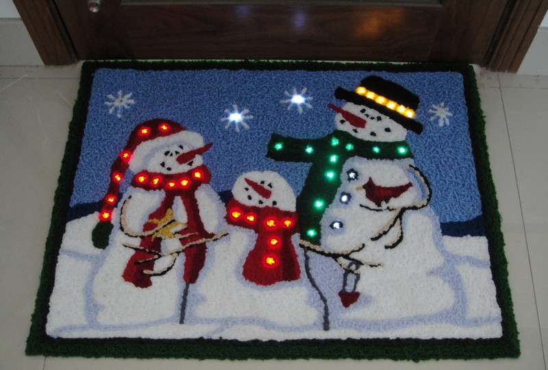 FY-002-F01 christmas SNOWMAN TRUFTING DOORMAT carpet light bulb lamp FY-002-F01 cheap christmas SNOWMAN TRUFTING DOORMAT carpet light bulb lamp