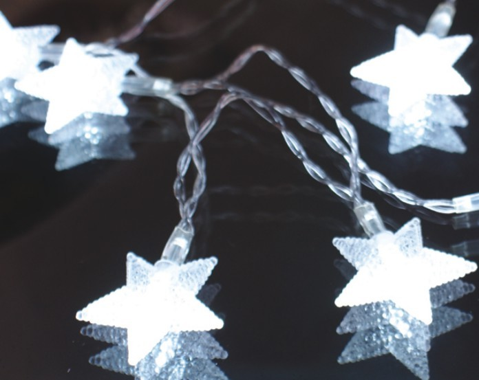 manufacturer In China FY-009-A177 LED LIGHT cheap christmas  CHAIN WITH STAR DECORATION  company