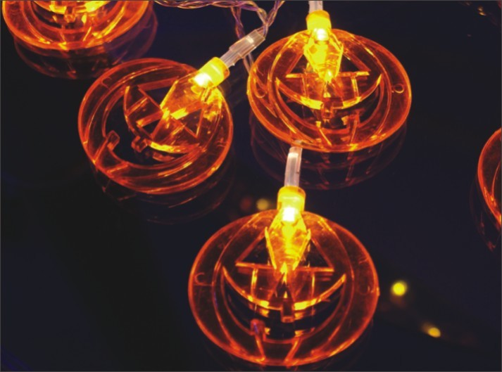 FY-009-A208 LED LIGHT CHAIN WITH PUMPKIN DECORATION FY-009-A208 LED LIGHT CHAIN WITH PUMPKIN DECORATION - LED String Light with Outfit China manufacturer