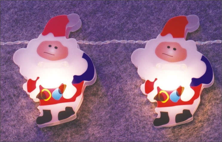 FY-009-C64 LED LIGHT CHAIN WITH PVC SANTA CLAUS FY-009-C64 LED LIGHT CHAIN WITH PVC SANTA CLAUS - LED String Light with Outfit China manufacturer