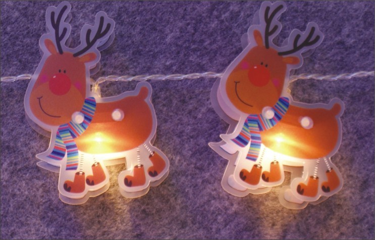 FY-009-C67 LED LIGHT CHAIN WITH PVC REINDEER FY-009-C67 LED LIGHT CHAIN WITH PVC REINDEER - LED String Light with Outfit manufactured in China