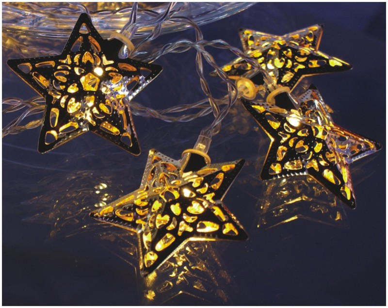 FY-009-F16 LED LIGHT CHAIN WITH STAR DECORATION