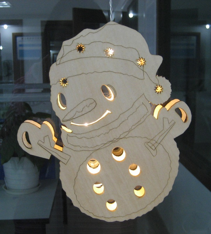 FY-016-007 christmas SILHOUETTE WOODEN SNOWMAN window light bulb lamp FY-016-007 cheap christmas SILHOUETTE WOODEN SNOWMAN window light bulb lamp - Window lights made in china