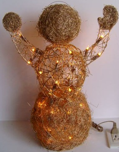 FY-06-002 christmas scarecrow rattan light bulb lamp FY-06-002 cheap christmas scarecrow rattan light bulb lamp - Rattan light made in china