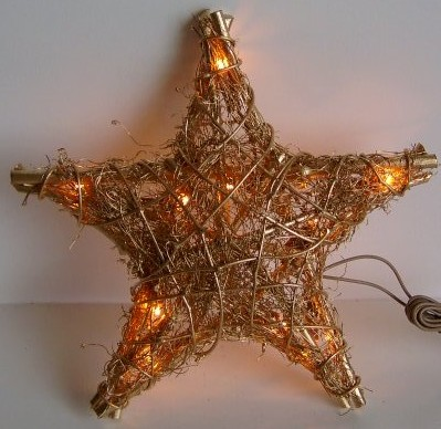 FY-06-010 christmas five-pointed star rattan light bulb lamp FY-06-010 cheap christmas five-pointed star rattan light bulb lamp
