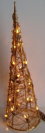 <b>FY-06-023 christmas cone rattan light bulb lamp</b> FY-06-023 cheap christmas cone rattan light bulb lamp - Rattan light manufactured in China