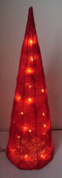 FY-06-030 christmas red cone rattan light bulb lamp FY-06-030 cheap christmas red cone rattan light bulb lamp