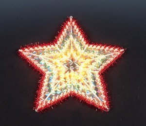 China manufacturer  cheap christmas star plastic frame light bulb lamp  factory