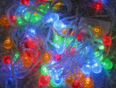 FY-60114 LED christmas lights FY-60114 LED cheap christmas lights bulb lamp string chain - LED String Light with Outfit made in china