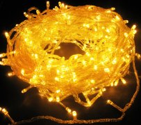 China manufacturer  Yellow 144 Superbright LED String Lights Multifunction Clear Cable  distributor