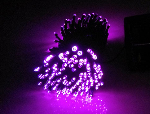 Pink LED Solar String Lights