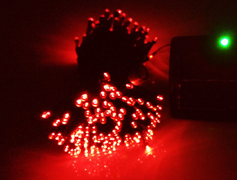 Red LED Solar String Lights