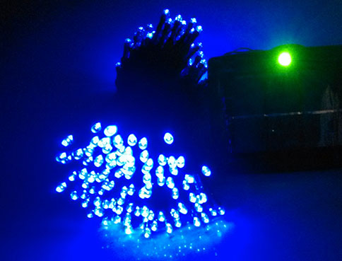 Blue LED Solar String Lights