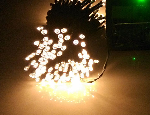 Warm White LED Solar String Lights