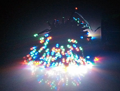 Colorful LED Solar String Lights