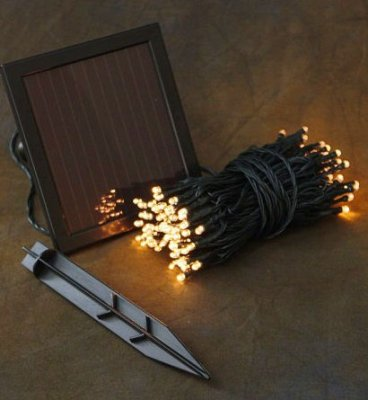 manufactured in China  Solar Powered 60 LED Copper Wire String Lights Garden Christmas Outdoor  corporation