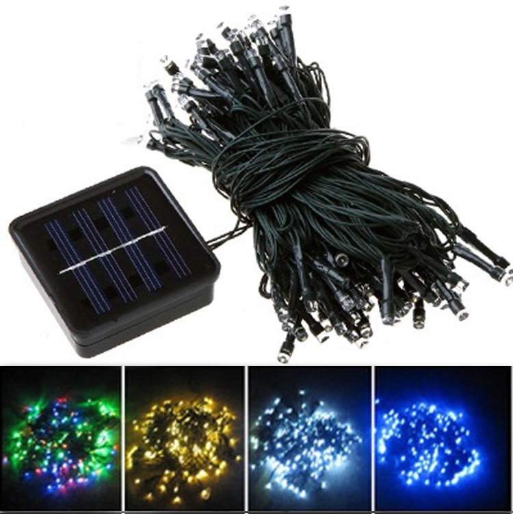 Solar string 100 led outdoor lights outdoor designs fy 100l sp series 100 led solar string lights workwithnaturefo
