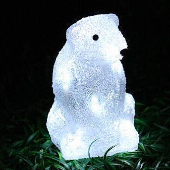 Solar Acrylic bear Motif Lights