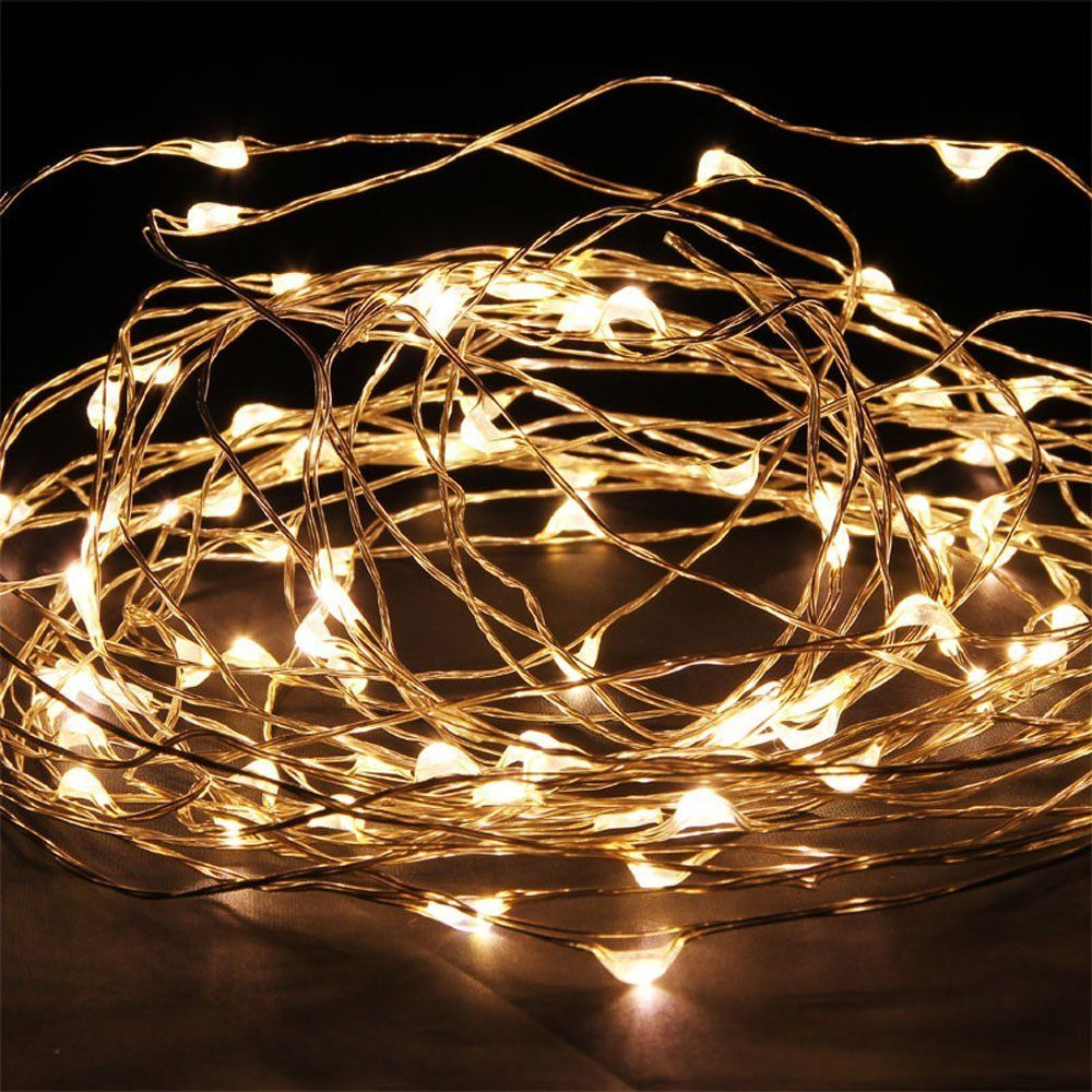Copper String Lights Down To The Woods : Solar Copper Wire Lights