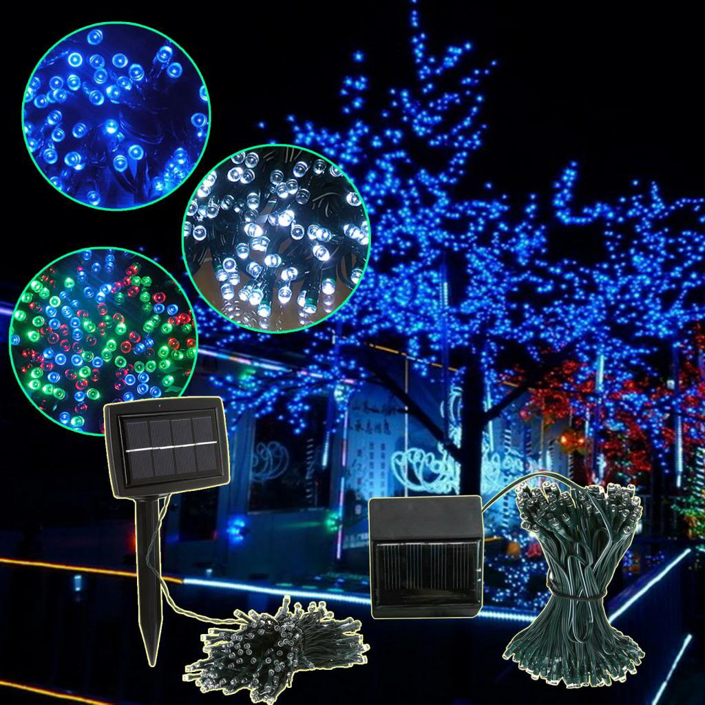 Solar Christmas Tree String Lights : LED Solar Christmas Lights