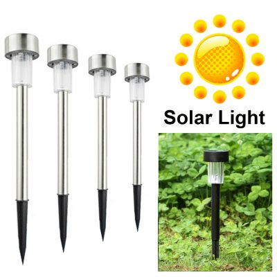 Solar Power LED 7 Colors light Solar Stainless Landscape Outdoor Garden Path Lamp